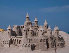 #砂浜#砂のお城