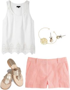 """""""Seersucker"""" by thevirginiaprep ❤ liked on Polyvore"""