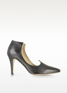 Baton Rouge Black Leather Pump - Zoe Lee
