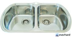 Everhard's Milan Double Bowl Undermount Kitchen Sink   73138