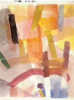 Louis Moilliet: Komposition mit farbigen Streifen(Composition with Colored Stripes[my own attempt at translation g.s.]) 1921 Watercolor 24 x 32 cm