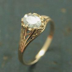 Broschen & Anstecknadeln Diamanten & Edelsteine Brosche Diamanten Vintage Gelbgold Vintage Fragrant Aroma