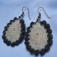 Tear Drop Crochet Earring pattern
