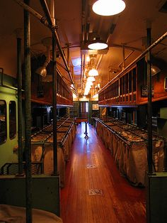 Mail car of a train at the California State Railroad Museum, in Sacramento, CA by Ric e Ette via Flickr.