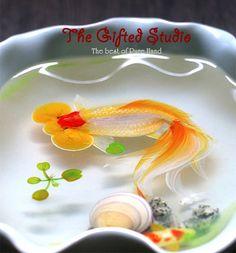 Bubble Eye Goldfish resin resin by TheGiftedStudio 3d Resin Painting, Resin Artwork, Bubble Eye Goldfish, Liquid Resin, Painted Fish, Hand Painted, Fish Art, Optical Illusions, Xmas Gifts
