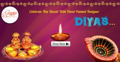 Light up this Diwali in a beautiful, subtle manner with our hand painted  designer diyas. The diyas are adorning and will definitely add beauty to your home. #Diyas #Diwalidiyas #Diwali #Diwaligifts