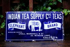 Old Indian Tea Supply Co Elephant Brand by InterestinOldUnusual