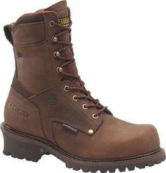 Carolina Men's 8 in. Waterproof  Insulated Broad Toe Steel Toe Logger