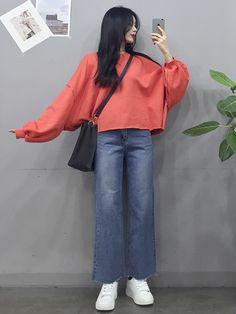 Korean Girl Fashion, Korean Street Fashion, Ulzzang Fashion, Korea Fashion, Kpop Fashion, Asian Fashion, Hijab Fashion, Daily Fashion, Fashion Outfits