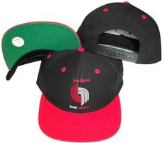 Portland Trail Blazers Black Red Two Tone Snapback Adjustable Plastic Snap  Back Hat   Cap by adidas.  8.99. One Size Fits All. Embroidered team  graphics. 52b3fa142