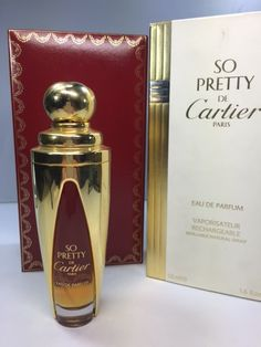 Cartier So Pretty Eau de parfum 50 ml. Limited edition by Myoldperfume on Etsy Lovely Perfume, Vintage Perfume, Perfume And Cologne, Perfume Bottles, Cartier, Thanks For The Gift, Cosmetics & Fragrance, Etsy, Lips