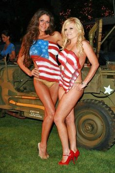 patriotic body paint