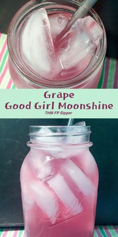 A refreshing grape drink with a good and healthy ACV kick. Grape Good Girl Moonshine {THM-Sipper, Sugar Free}