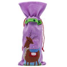 Bottle Bag Reindeer Design at Ocado - lovely for last minute gift