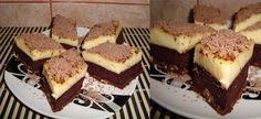 "Prajitura ""Visul unei nopti de vara""! Rapida, ieftina si delicioasa! Familia ta se va bucura de gustul desavarsit! Ingrediente   Pt blat: – o cana nuca,(150-200 g ) – 7 oua – 7 linguri zahar – 7 linguri apa – 5 linguri faina, – 2 cacao – un plic praf de copt  Pt crema: – 2 budinci – Artistic Wallpaper, Cheesecakes, Cooking Recipes, Sweets, Desserts, Tailgate Desserts, Deserts, Gummi Candy, Chef Recipes"