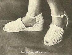 Crocheted Shoes - Free Crochet Pattern