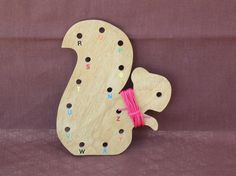 love this educational wood lacing card from TnTWoods on etsy $5