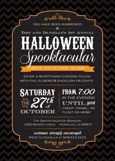 Halloween Party Invitation Wording | Halloween invitation wording ...