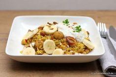 Persischer Pilaw mit Maronen und Joghurt-Dip