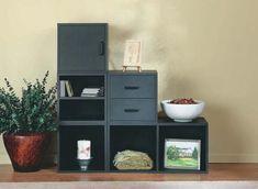 Amazon.com   Foremost 327806 Modular Large Divided Storage System, Black    Closet Storage
