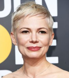 We love Michelle Williams for her consistent signature look: side-swept fringe, a radiant complexion, and a slight touch of pink-toned nude on her pout. (Plus, if she ever grows out that perfect...