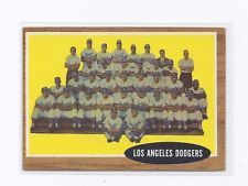 1962 Topps #43 Los Angelos Dodgers Team Card CHECK IT OUT