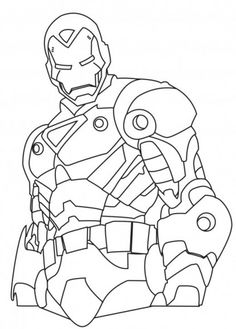Marvel Superhero Ironman Coloring Page