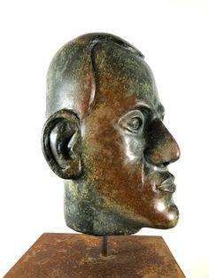 """""""Kronos"""": Skulptur aus Serpentin Opal. Weitere Skulpturen aus Holz und Stein des Bildhauers aus Köln, z.T. vergoldet mit 24 Karat Blattgold sind auf meiner website zu sehen. Fertigstellung März 2020"""