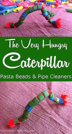 The Very Hungry Pasta Bead Caterpillar