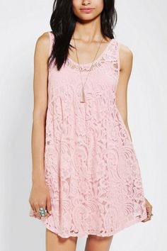 Pins And Needles Lace Babydoll Dress