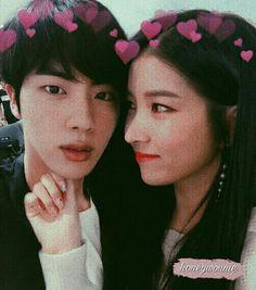 Gfriend And Bts, Sinb Gfriend, Gfriend Sowon, Jimin Jungkook, Bts Jin, Taehyung, Kpop Girl Groups, Kpop Girls, Bts Girlfriends