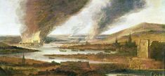 Raid on the Medway - Upnor Castle & burning dockyard of Chatham Wikipedia, the free encyclopedia Chatham Kent, Dutch Painters, London Photography, Tall Ships, Military History, Art Gallery, Castle, Old Things, River