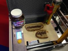 A Nutella printer from Fab Lab Maastricht at the Maker Faire 2013, Rome