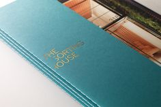 The Sorting House, a luxury residential building atop a post office in New York. Luxury Brochure, Brochure Design, Flyer Design, Layout Design, Print Design, Graphic Design, Diary Cover Design, Diary Covers, Property Branding