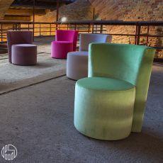 Dalt - Poltrona di design Domingo Salotti, disponibile in tessuto, pelle o similpelle, diversi colori