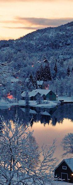 Winter lakes' reflection...