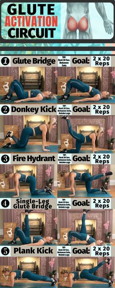 Booty Activation Circuit - Glute Activation/ Building Leg workout for women at H. Booty Activation Circuit - Glute Activation/ Building Leg workout for women at Home! Maximize Glute Growth with this circuit! :D ♥ Have an amazing day Beautiful! At Home Workout Plan, At Home Workouts, Butt Workouts, Workout Circuit At Home, Treadmill Workouts, Circuit Fitness, Leg Circuit, Leg And Glute Workout, Workout Kettlebell