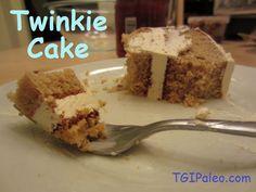 Paleo Twinkie Cake