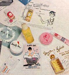 "Harper's Bazaar ""Beauty Box"" Contents - detail, July 1958"