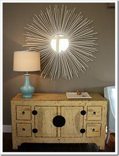 DIY Starburst Mirror - super easy and inexpensive!