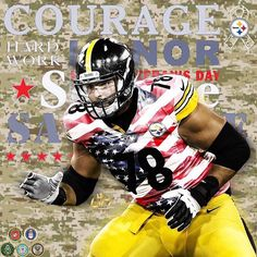 Thank you Alejandro Villanueva for protecting our country, we thank and honor you. Semper Fi. It took courage for him to stand alone when his entire team chose to kneel during the Anthem. ❤️