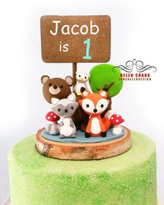 Hey, I found this really awesome Etsy listing at https://www.etsy.com/listing/242457588/woodland-cake-topper-animal-cake-topper