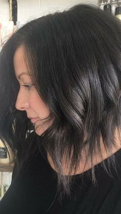 10 Lob Haircut Ideas – Edgy Cuts & Hot New Colors: #6. High-style long, wispy tips – edgy lob on thick, dark hair