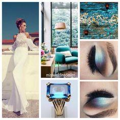 Turchese e bronzo, weddingdesign spring2015