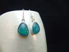 Australian Opal Doublet Sterling Silver Earrings £125.95