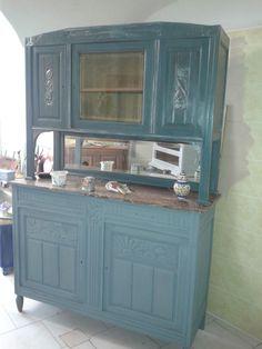 buffet kuechenschrank in tuerkis by bleu et ros s ndenherz pinterest m bel buffetschrank. Black Bedroom Furniture Sets. Home Design Ideas