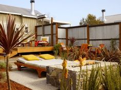 Carneros Inn - Galvanized sheet metal and board siding