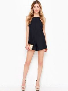August Flash Sale 50% OFF---Rossi Black Romper