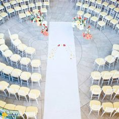 Unusual ceremony seating, theknot.com