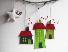 Felt Christmas House Ornament by Intres contemporary-seasonal-decorations